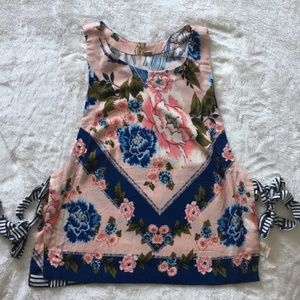 Never Worn Free People This Sweet Love Floral Tank